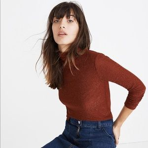 Sparkling Red Madewell Turtle Neck